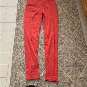 Women's red lularoe leggings full length